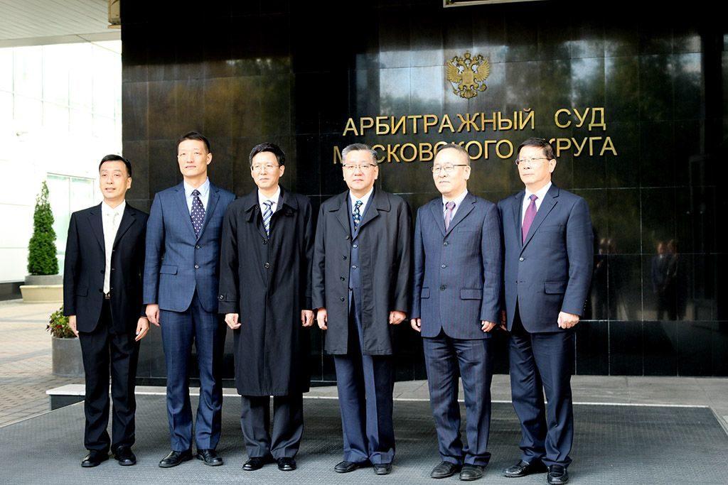 Делегация судей города Шанхая